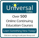 Button to access Universal Class online learning