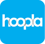 Button to Access Hoopla Digital movies, music, comics. eBooks and Audiobooks