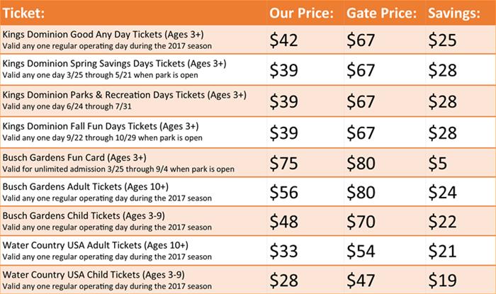 Busch Gardens One Day Ticket Garden Ftempo