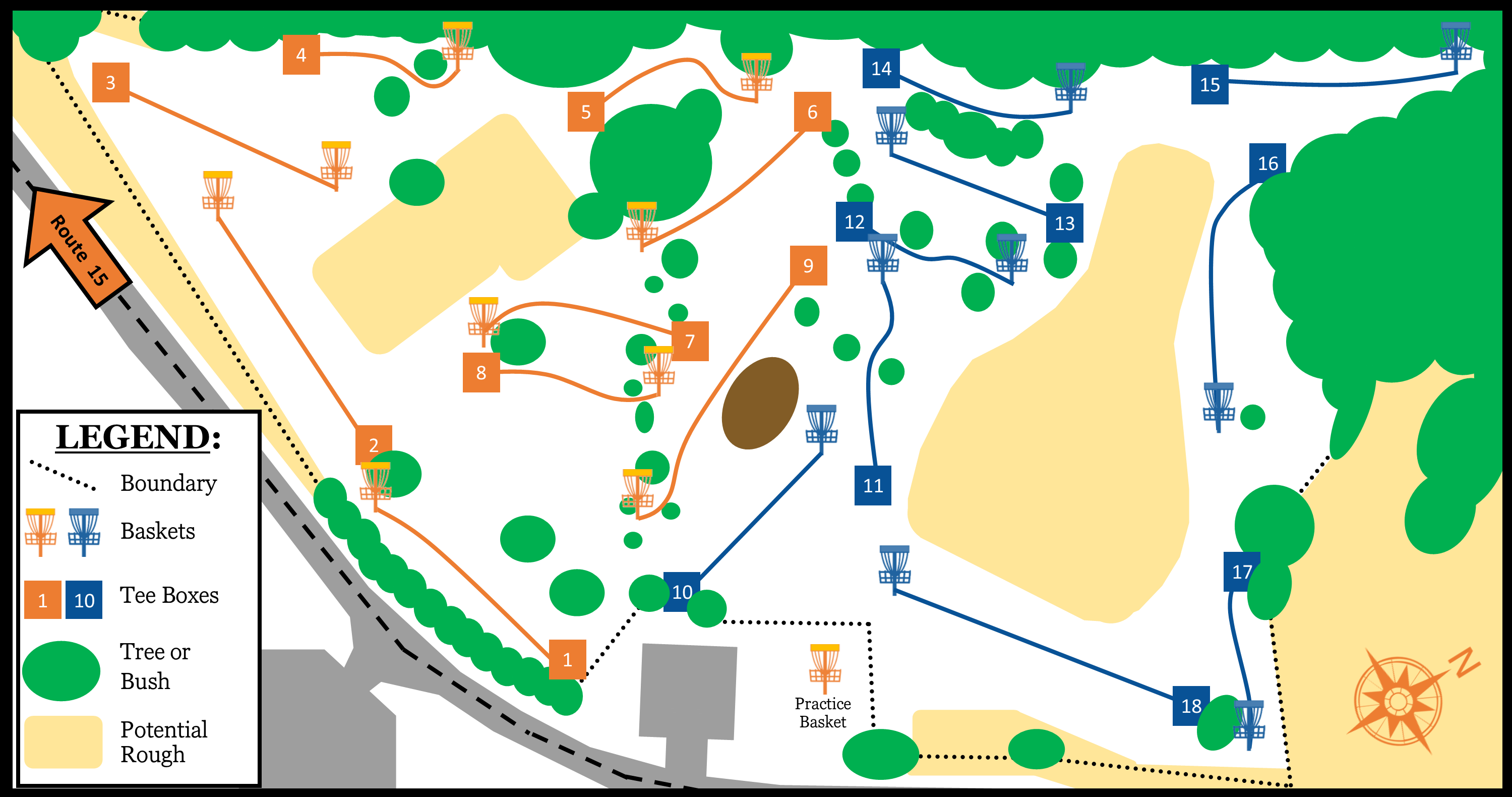 A graphic map of the course
